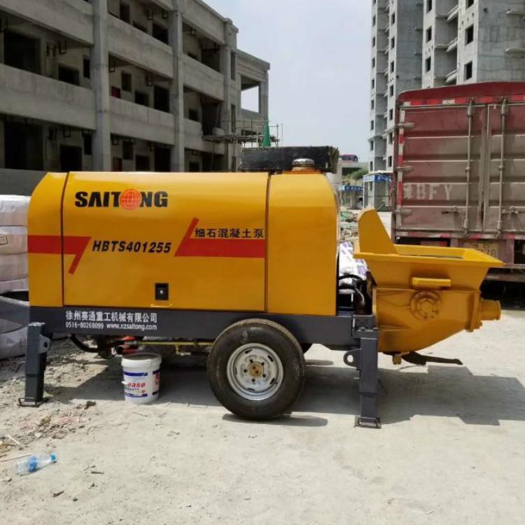 细石泵车 混凝土浇筑泵  小型混凝土输送泵